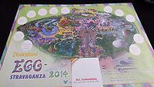 Disneyland Resort 2014 Eggstravaganza Map and stickers - Disney Easter Hunt