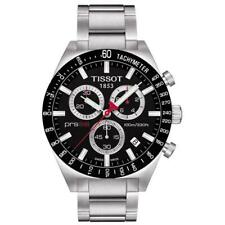 NEW TISSOT T044.417.21.051.00 MENS PRS 516 BLACK & SILVER CHRONOGRAPH WATCH
