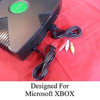 New AV A/V Cable & Power Cord Bundle for the Original Microsoft Xbox Console