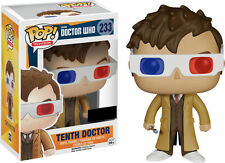 "EXCLUSIVE DOCTOR WHO TENTH DOCTOR WITH 3D GLASSES 3.75"" VINYL POP FIGURE FUNKO"