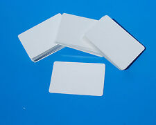 100x WHITE CARDS - BLANK business,flashcard,sight & learning, ID, gameplay.