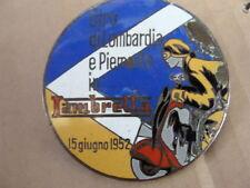 PLACCA GIRO DI LOMBARDIA E PIEMONTE IN LAMBRETTA 1952 125 F LD 175 TV OLD ITALY