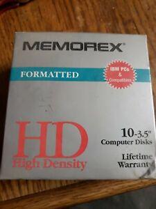 Memorex 10 pack 3.5 formatted disks