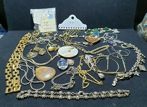 JOB LOT Of ROLLED GOLD PLATE/GOLD PLATE/GOLD TONE JEWELLERY, NECKLACE, PENDANTS