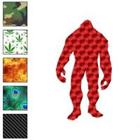 Big Foot Sasquatch Yeti Decal Sticker Choose Pattern + Size #105