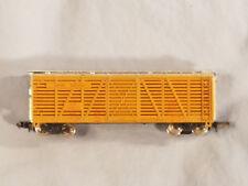 N Scale Union Pacific Railroad Livestock Freight Car Brown & Silver Con Cor