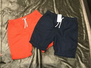 M&S 2 Pairs Boys Cotton shorts BNWT Age 14-15 Years