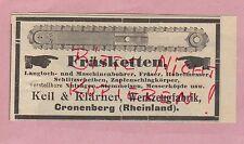 CRONENBERG, Werbung 1908, Keil & Klärner Werkzeug-Fabrik Fräs-Ketten