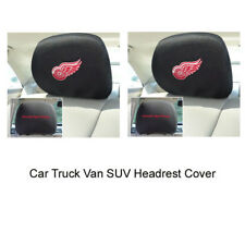 New 2pcs NHL Detroit Red Wings Automotive Gear Car Truck Headrest Covers Set