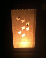10 Stück Papier Lichttüten Lichtertüten Schmetterling weiß  für Teelichter