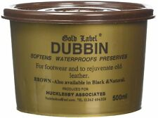 Gold Label Dubbin Brown Waterproof Protection for Leather 500g