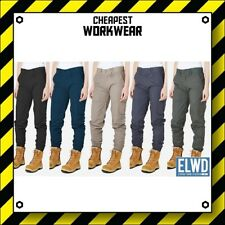 ELWD | Elwood Workwear | WOMENS CUFFED WORK PANTS | Navy Khaki Army Black EWD503