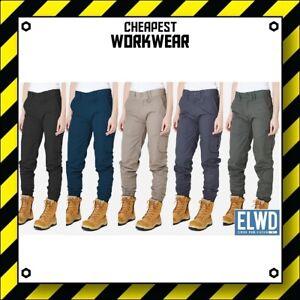 ELWD   Elwood Workwear   WOMENS CUFFED WORK PANTS   Navy Khaki Army Black EWD503