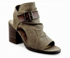 BLOWFISH Malibu Dennie Stacked Heel Open Toe Bootie SIZE 7 1/2 - Gently Worn