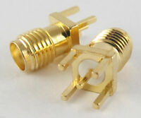 10 pcs Gold SMA Female Jack Solder PCB Board Mount Straight RF Connector Adapter