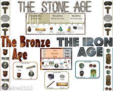 KS2 history topic STONE BRONZE & IRON AGE DISPLAY pack Primary Teaching Resource