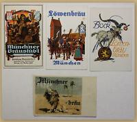 4 Postkarten Löwenbräu-Festhalle 1928 Oktoberfest München Bayern Brauerei sf