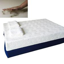 """8"""" Three Layer Queen Size Cool Medium Firm Memory Foam Mattress Bed w/ 2 Pillows"""