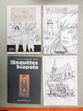 PACK Crayonnés 3 albums 1 ex-libris CAYMAN STIBANE VAN LINTHOUT DI SANO