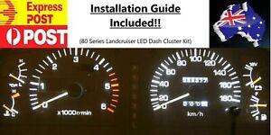 Aus Post - White LED Dash Cluster Kit - Toyota Landcruiser 80 Series 1990-1998