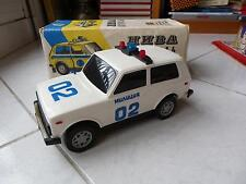 Lada Niva Police Militzia Made in USSR USSR Cccp Toy Miniature Old 23.5 CM