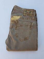New Women's ROBIN'S JEAN sz 26 Straight Leg Jeans -Light Brown