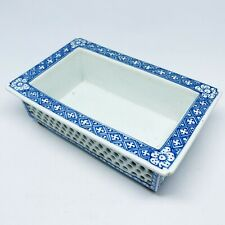 Antique Chinese Blue White Reticulated Double-Walled Narcissus Bonsai Planter