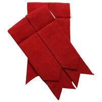 TC Men's Kilt Sock Flashes Plain Red Tartan/Red Scottish Kilt Hose Socks Flashes