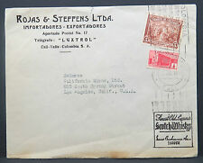Colombia Kolumbien Scotch Whisky Rojas & Steffens Brief in die USA 5c (I-701