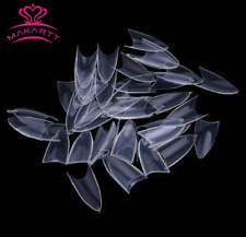 500 MAKARTT CLEAR STILETTO NAIL TIPS - almond false  *UK SELLER*