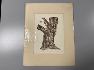 Carol Lummus Signed AP The Inn Of The Sixth Happiness Etching Mystical Imagery!