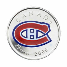2006 CANADA Montreal Canadians Colorized 25-Cent
