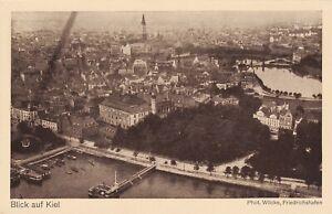 Zeppelin Postcard Germany Aerial View Gustav Eyb - View of Kiel