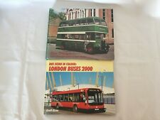 2x Train Books Bus Scene In Colour London Buses 2000 Blue Triangle - AEC Buses
