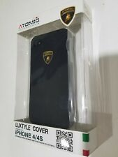 Black Atomic licensed  Lamborghini plastic iphone 4/4s case Luxtyle iLine