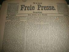 1895 NOV-DEC NEUE FREIE PRESSE NEWSPAPER LOT - GERMAN FROM VIENNA - BV 3