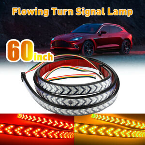 """60"""" Truck Tailgate Strip LED Sequential Turn Signal Brake Tail Reverse Light Bar"""