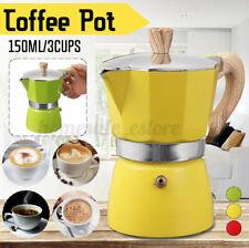 Aluminum Italian Moka Espresso Coffee Maker Percolator Stove Top Pot 3 Cups