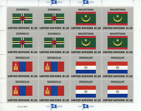 United Nations UN Flags Stamps 2020 MNH Flag Series 57 Mongolia Paraguay 16v M/S