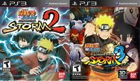Naruto Shippuden Ultimate Ninja Storm 2 & 3 PS3 Game Lot Bundle [Complete] CIB