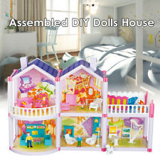 Plastic Doll House Girls Pretend Play Furniture 2 Level Large Toy Pink