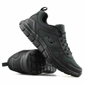 Mens Skechers Track Bucolo Leather Memory Foam Casual Sports Trainers Shoes Size