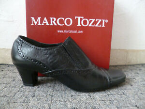 Marco Tozzi Court Shoes Casual Shoes Slippers Leather Black