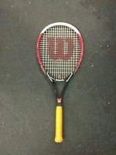 Wilson Tennis Racquet used black and red