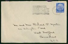 Mayfairstamps Germany Stuttgart to West Hartford CT Cover wwp_17105