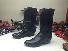 1991 DISTRESSED LUCCHESE BLACK EURO-GOAT LEATHER TRAIL BOSS RANCH WORK BOOTS 8 D
