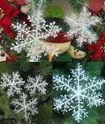 30X Blanc Flocon de Neige Ornement Noël Fête Sapin Décor Maison Décoration