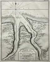 1773 Bellin Rare Krevelt edition Map - Copename & Sarameca Rivers, Suriname