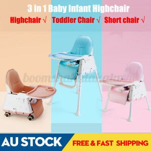 3 in1 High Chair Baby Infant Adjust Eating Feeding Highchair Dining Chair Kid