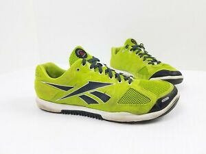 Reebok CrossFit Shoe Nano 2.0 Mens 13 Training Running Sneaker J96749 Lime Green